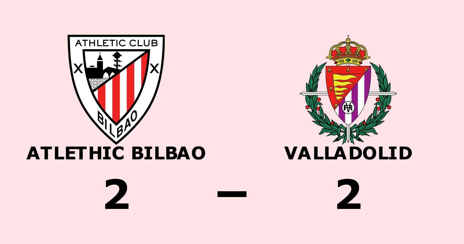 Fortsatt tungt för Valladolid - oavgjort mot Atlethic Bilbao
