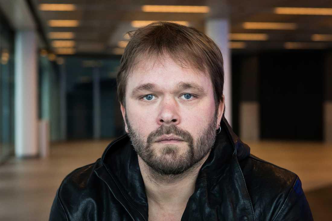 """Från tempelriddare till väpnare. Joakim Nätterqvist spelar Little John i """"Robin Hood""""."""
