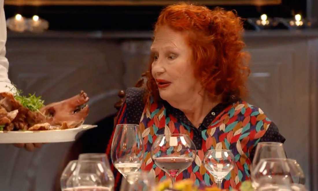 På Claire Wikholms dag serverades spädgrisen.