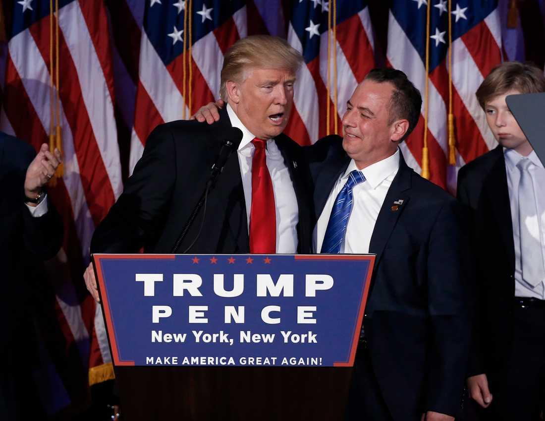 Donald Trump med Reince Priebus som blir stabschef i Vita huset.