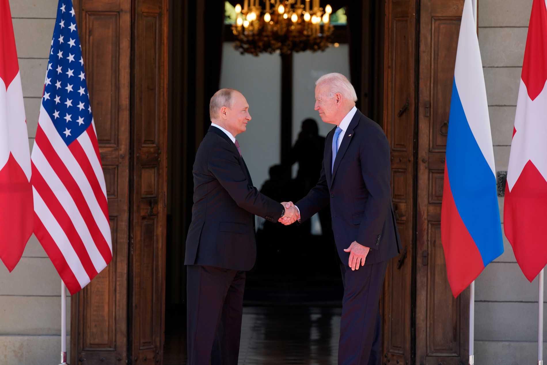 Joe Biden och Vladimir Putin träffades för första gången.