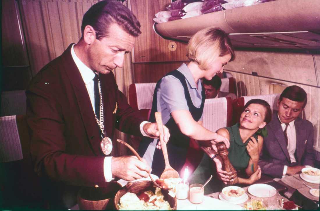 Servering av mat på 1970-talet.