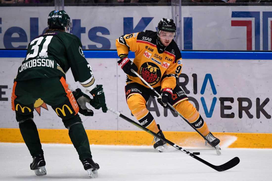 Luleås Austin Farley blev matchvinnare borta mot Färjestad.