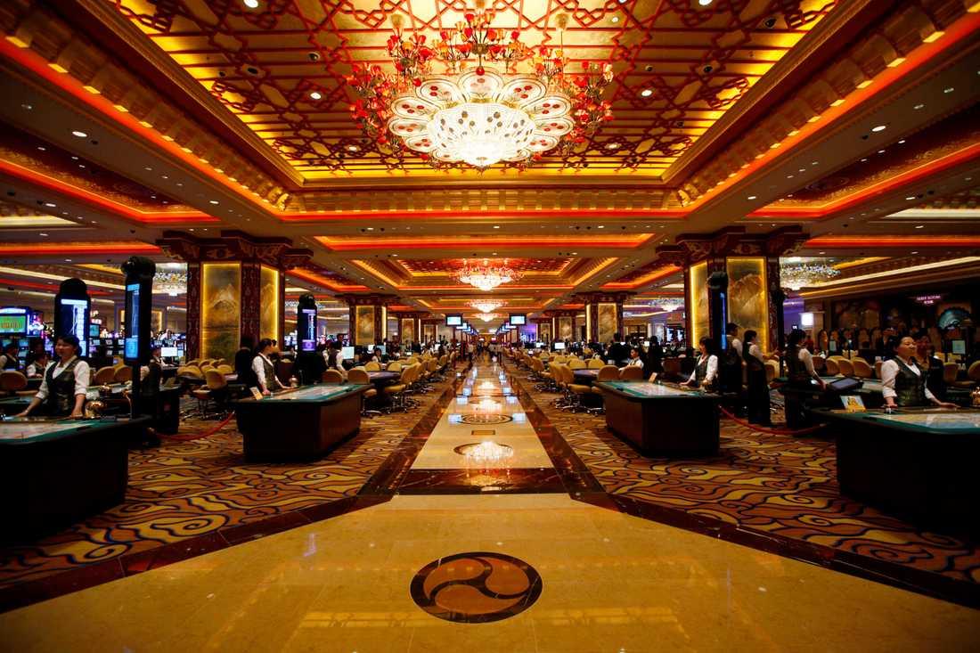 Det ser riktigt exklusivt inne i casinot.