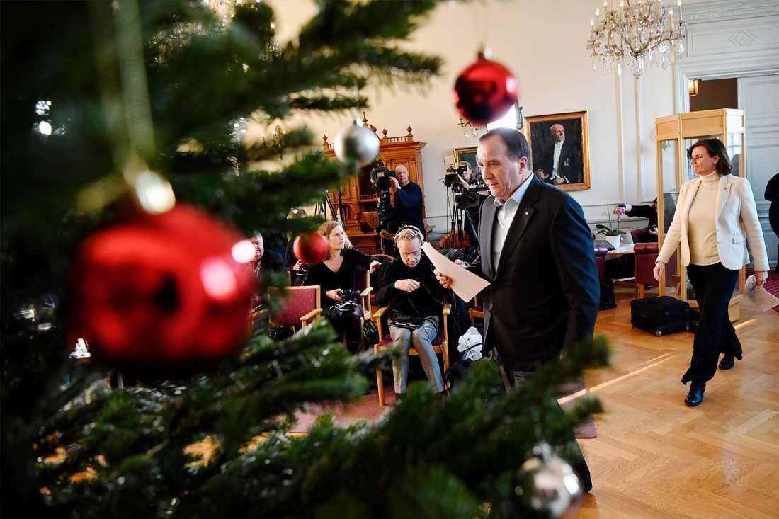 Statsminister Stefan Löfven i Köping.