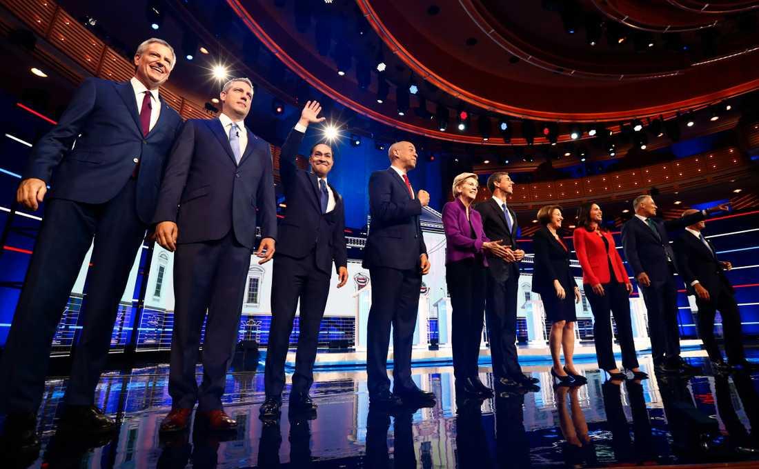 Totalt 20 demokrater ska debattera uppdelade på två debatter i två dagar.