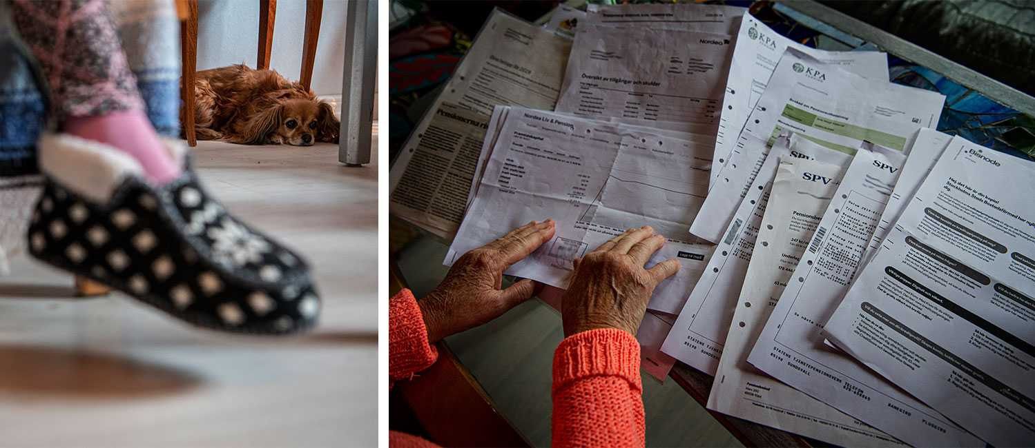 """""""Helt plötsligt är mina pengar ogiltiga"""", konstaterar Solie, 72."""