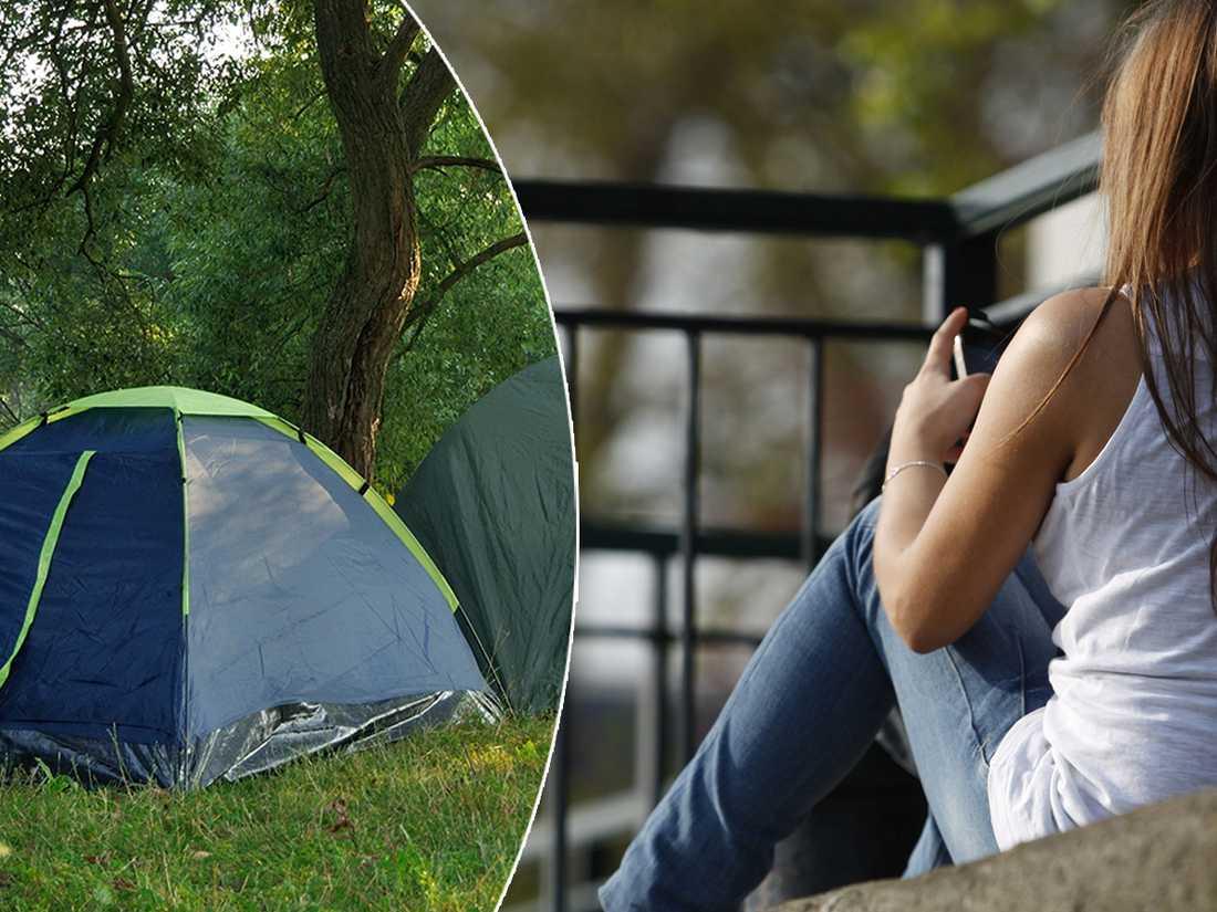 Kvinna kom ut från fängelset och blev bostadslös, fick tält