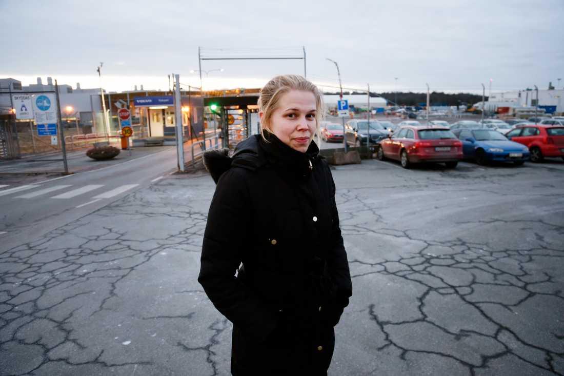 Vittnet Sara Larsson.
