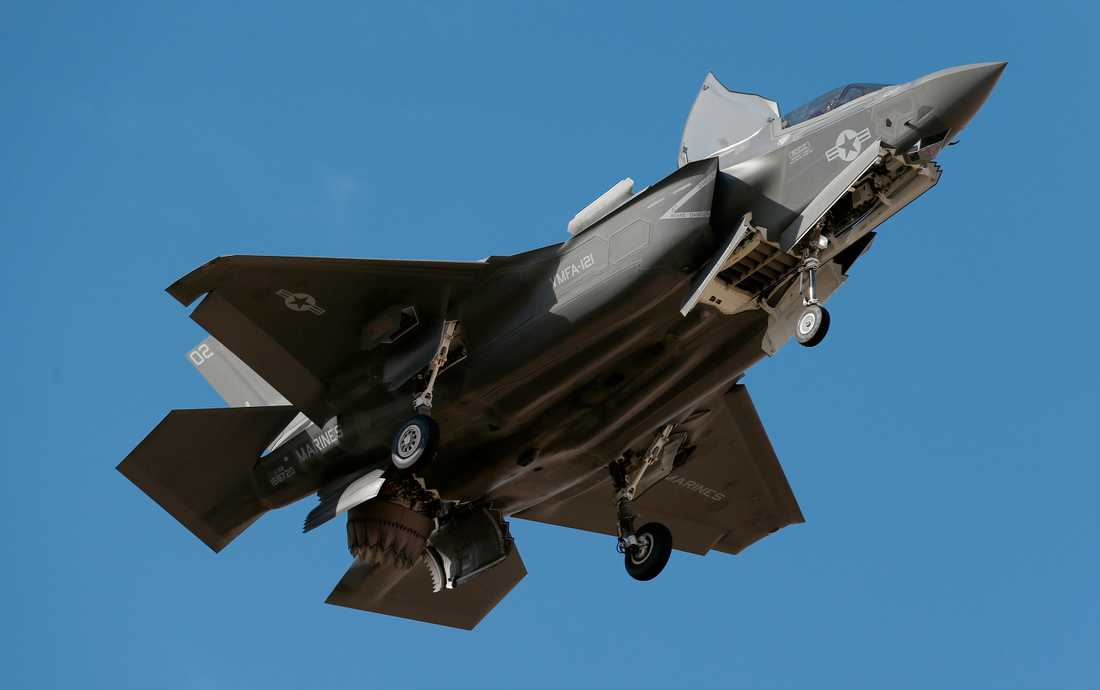 Det hypermoderna stridsflygplanet F-35. Arkivbild.