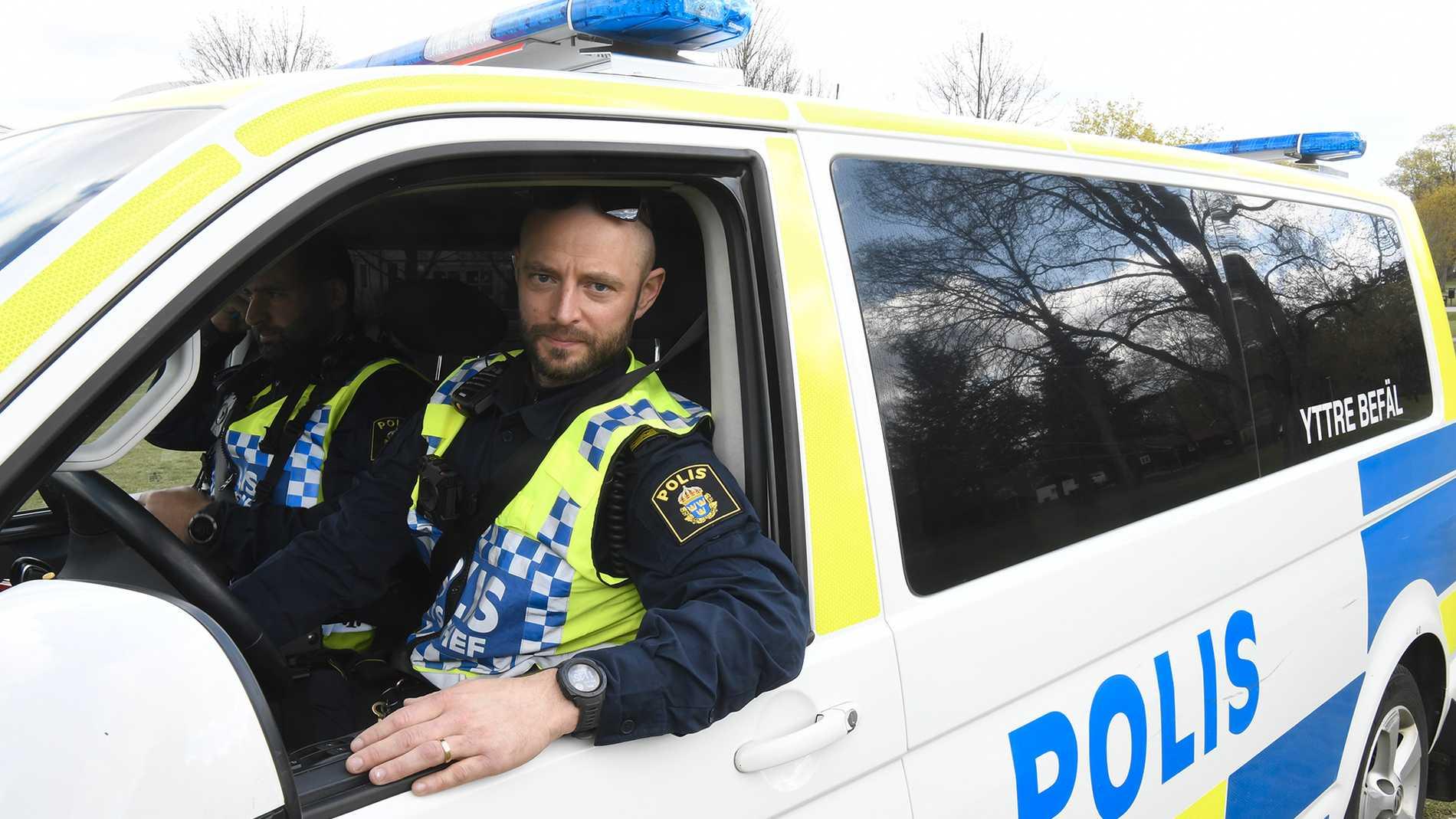 Johan Lindén, biträndande polisinsatschef, hade inte mycket att göra i Ekonomikumparken.