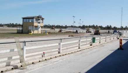 Visbytravet. Den anmälde amatörtränaren har Visbytravet som sin hemmabana. Bilden är från banomläggningen tidigare i år.