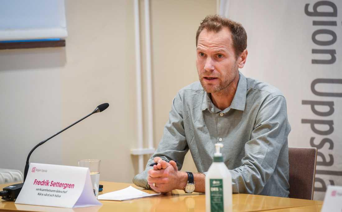 """""""Vi är medvetna om att smittspridningen ligger på en fortsatt hög nivå"""", säger Fredrik Settergren, verksamhetsområdeschef vid Nära vård och hälsa."""