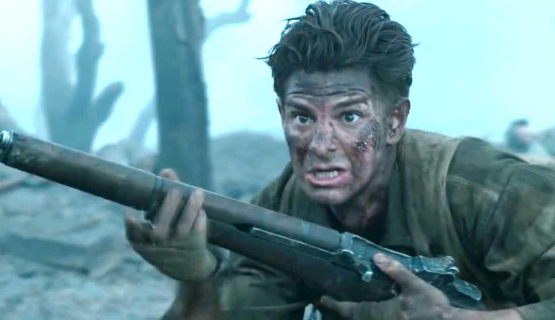 """Andrew Garfield som vapenvägrare i """"Hacksaw ridge""""."""