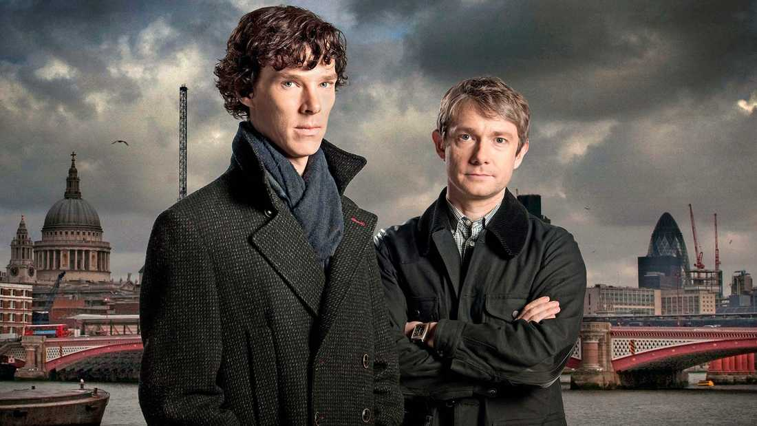 "Benedict Cumberbatch och Martin Freeman i ""Sherlock""."
