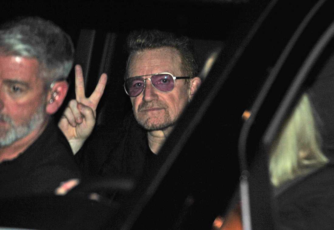 U2 lämnar Globen efter måndagens spelning
