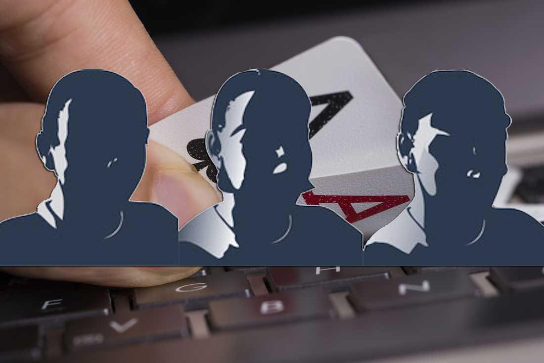 Tre anonyma svenskar toppar världsrankingen i onlinepoker.