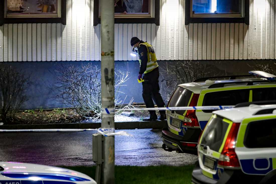 Polis på brottsplatsen