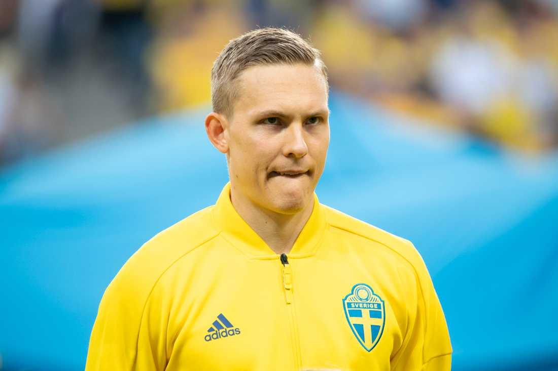 Ludwig Augustinsson missar Rysslandsmatchen på tortsdag. Arkivbild.