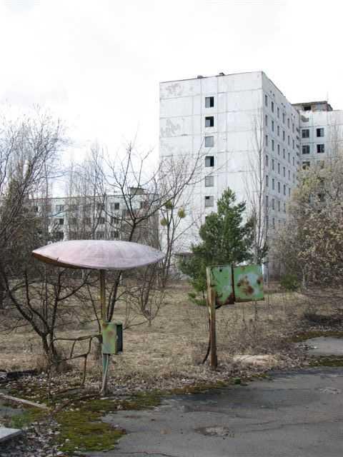 Övergivna platser vid Tjernobyl.