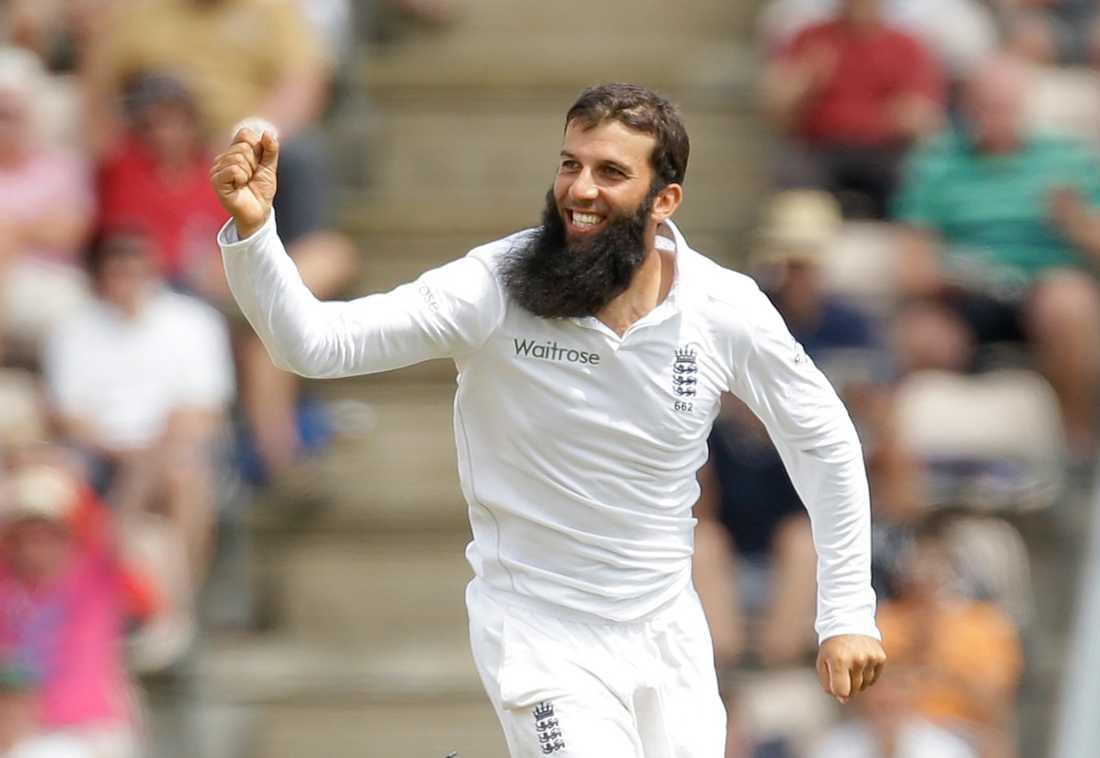 Moeen Ali, engelsk cricketspelare, har ett imponerande skägg.