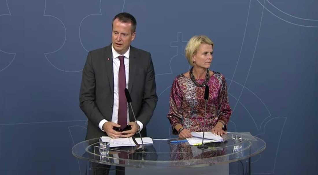 Anders Ygeman  och Åsa Regnér.