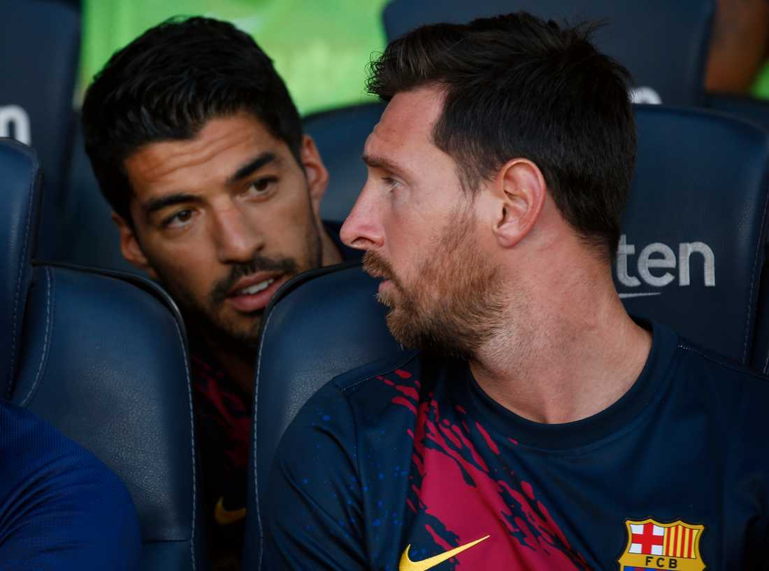 Luis Suarez och Leo Messi.