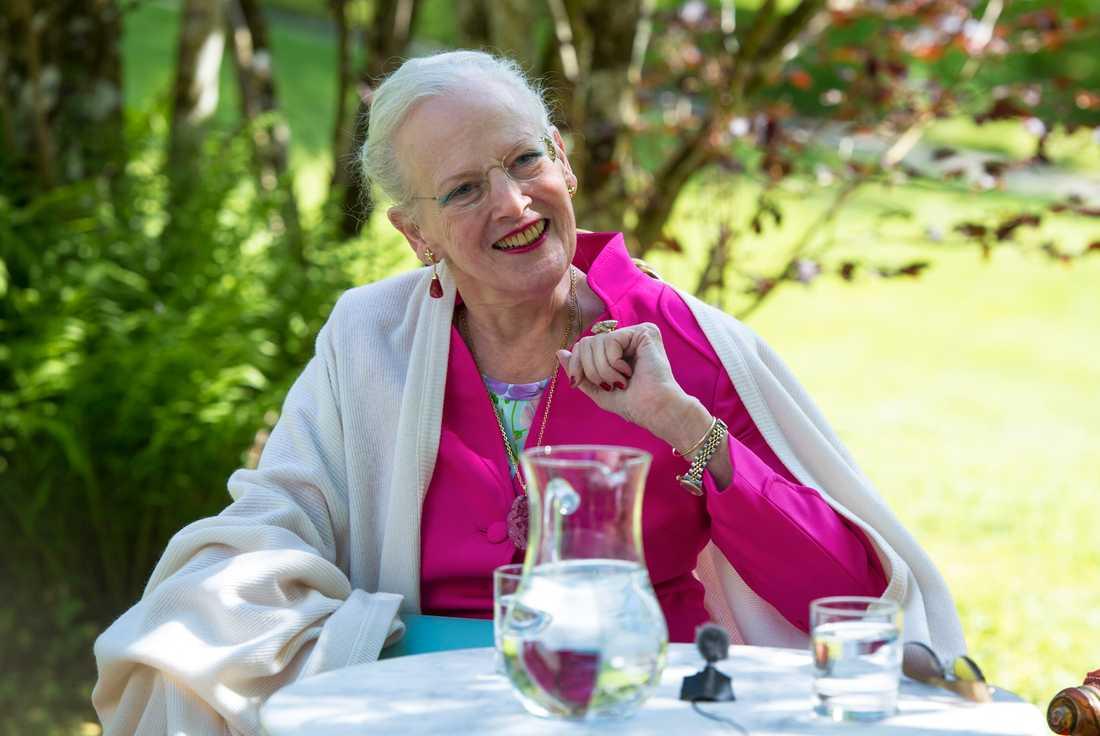 Drottning Margrethe fyller 80 år. Här en bild från 2015 i samband med en av alla hennes konstutställningar. Arkivbild.