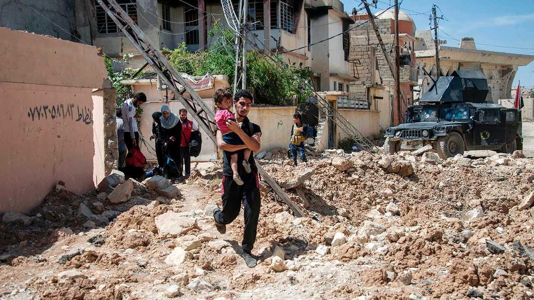 Regeringskrafterna går vidare i sin offensiv för att återta Mosul från islamiska staten.