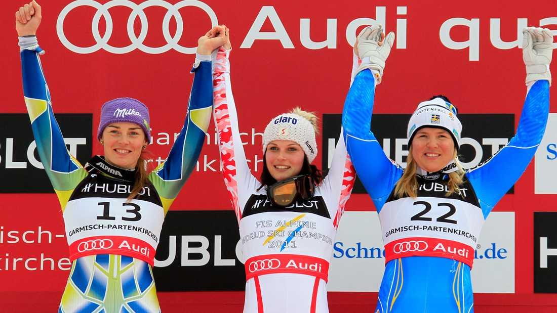 Anja knep bronset i superkombinationen i VM 2011.