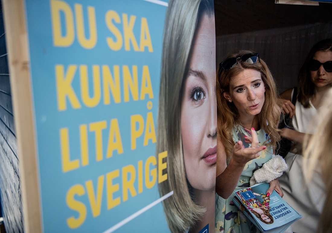 Nyligen invigde Caroline Szyber KD:s valstuga i centrala Stockholm.