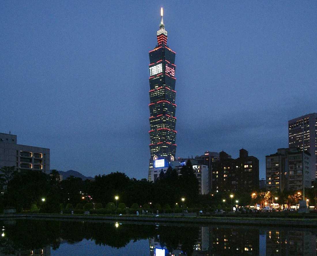 Taipei 101 i Taiwan, 508 meter högt.