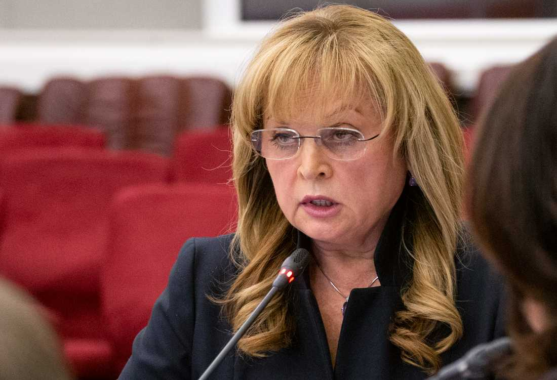 Ella Pamfilova, chef för ryska valkommissionen, överfölls med ett elchockvapen. Arkivbild.