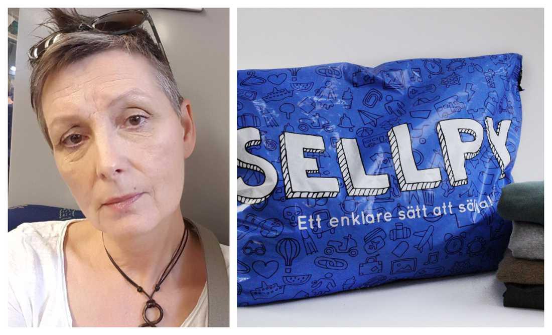 Yvonne Ehrencrona känner sig lurad av Sellpy.