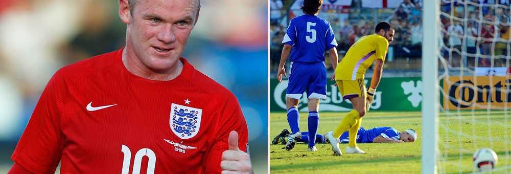 Rooney har gjort lika många mål som England fått självmål