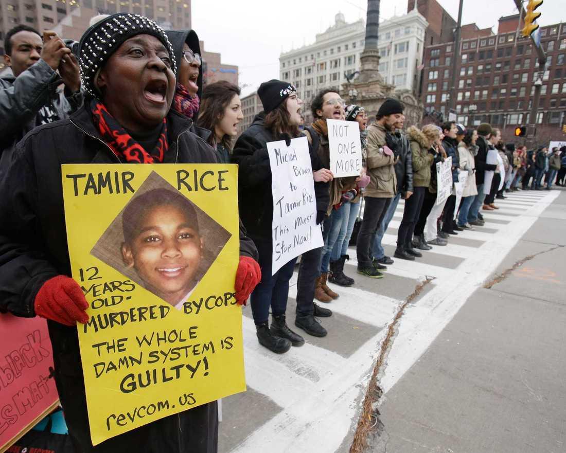Ett par veckor efter dödsskjutningen hölls demonstrationer i Cleveland.