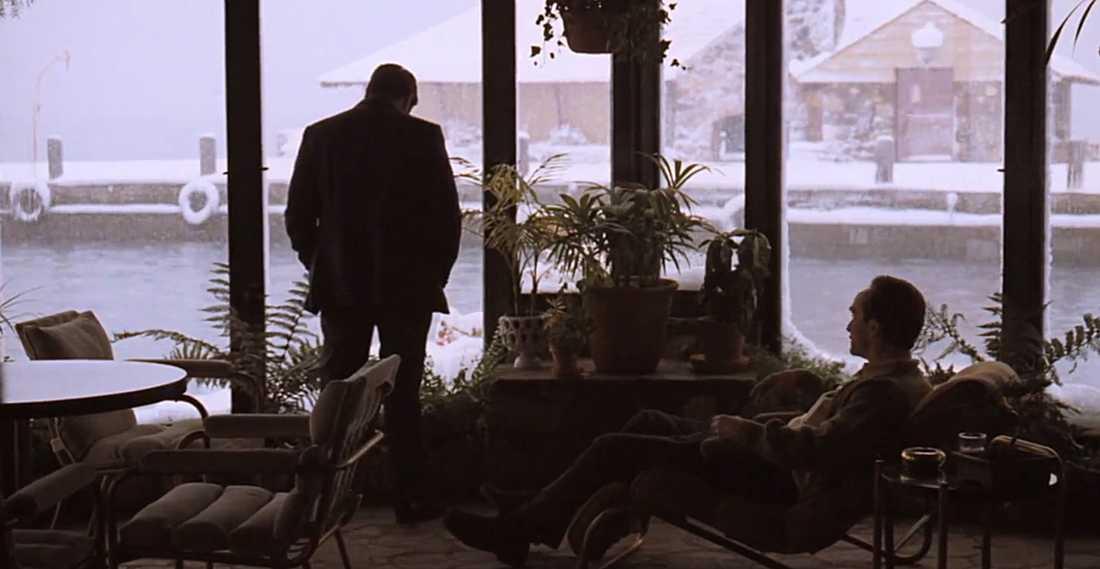 Michael och Fredo Corleone (Al Pacino, John Cazale).