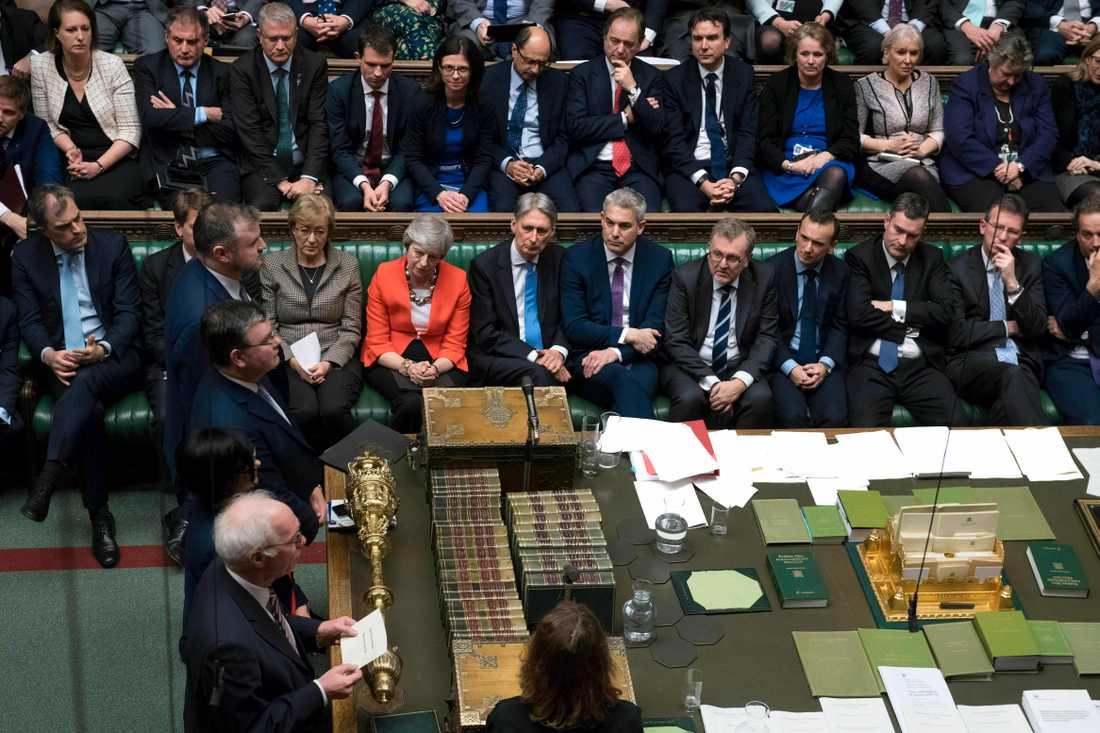 Mays brexitavtal förlorade med 149 röster.