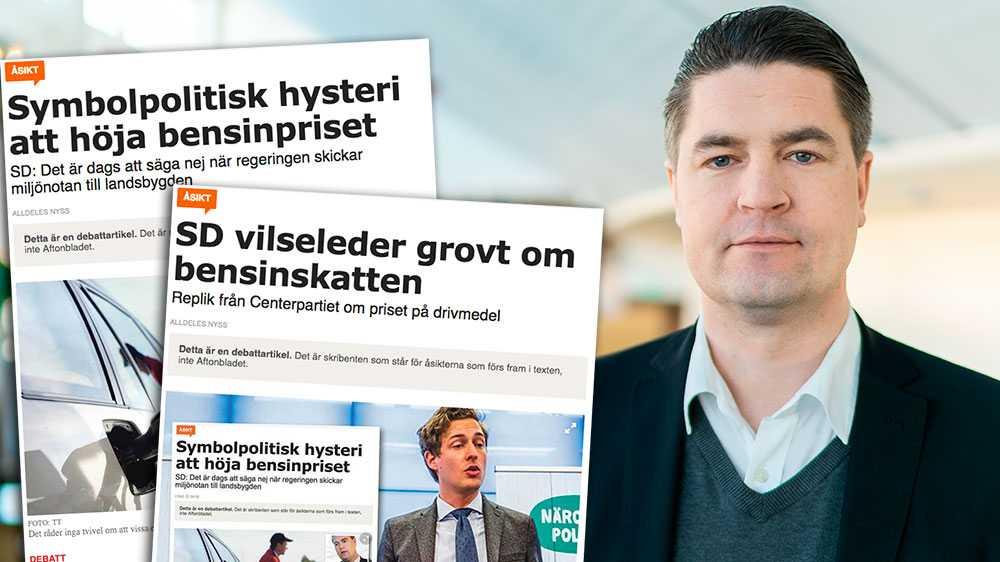 Er glesbygdssatsning visade sig inte ens räcka till en plusmeny på grillen, den fick i stället läggas på soppa i tanken, skriver Oscar Sjöstedt, finanspolitisk talesperson (SD).