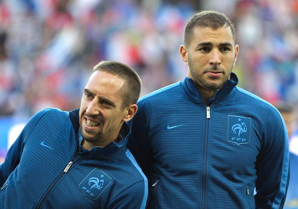 Franck Ribéry och Karim Benzema i Frankrike.