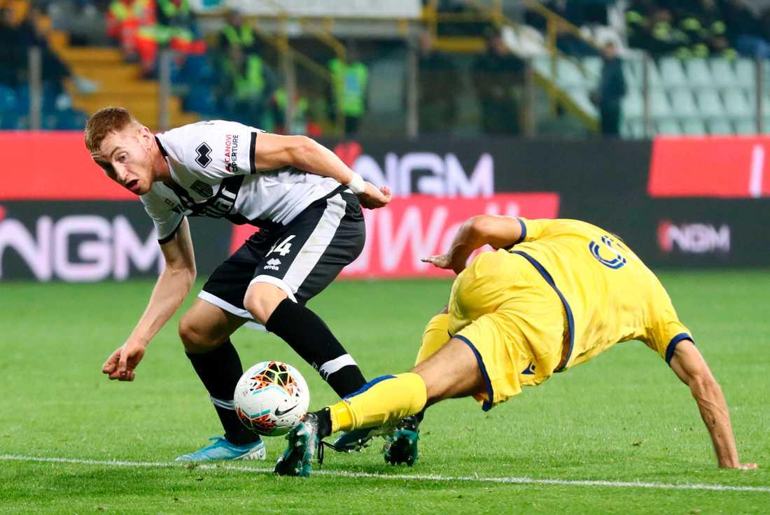 Dejan Kulusevski finns inte med i Parmas matchtrupp mot Sassuolo. Arkivbild.