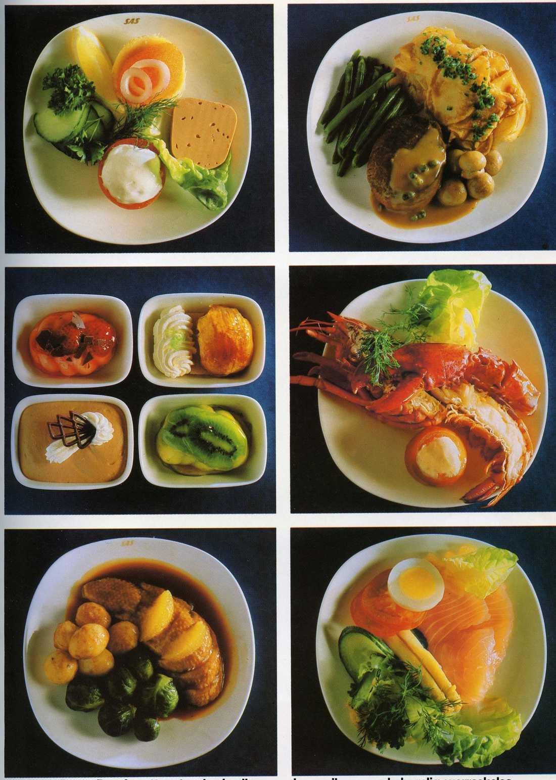 Maten som serverades i förstaklass 1983.