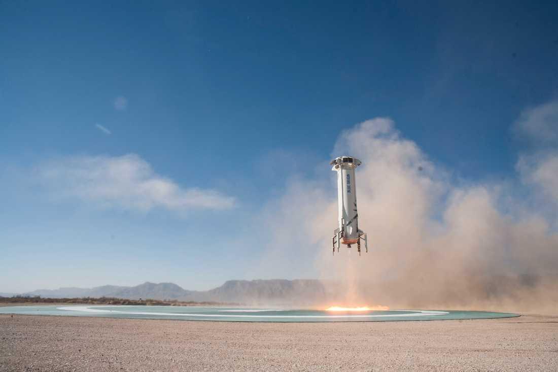 Klockan 15.50 planerar Blue Origin att skjuta upp sin New Shepard. Arkivbild.
