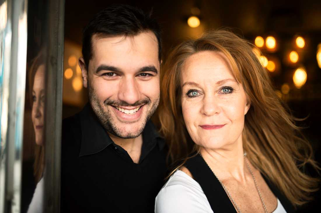 Maria Lundqvist tillsammans med Edward af Sillén.