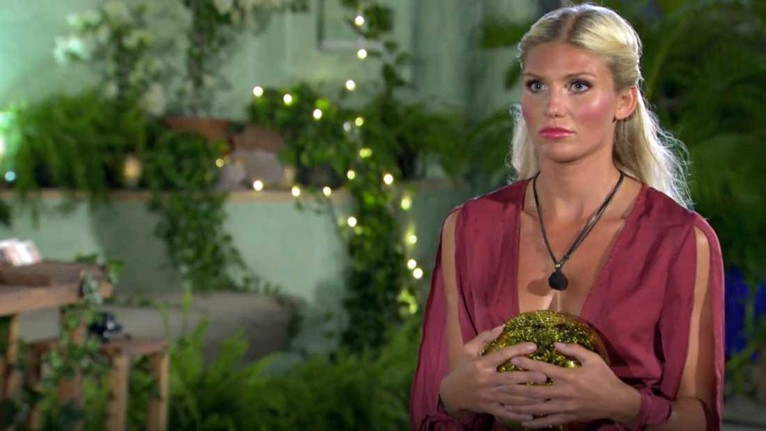 "Jennifer Karlsson i ""Paradise hotel""-finalen."