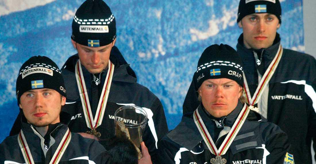 Låg stämning på prisutdelningen. Förutom Brink körde Anders Södergren, Per Elofsson och Matthias Fredriksson i det svenska laget.