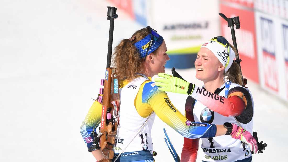Blir det en ny duell mellan Hanna Öberg och Marte Olsbu Røiseland i damernas stafett?