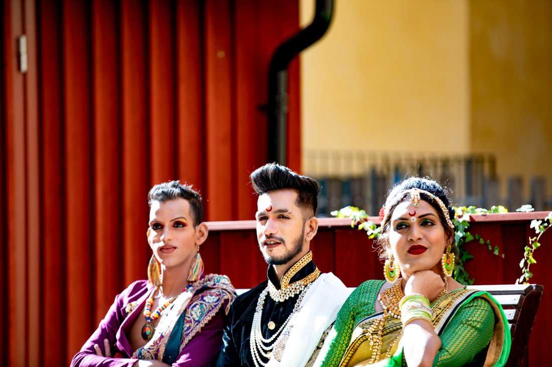 Dansarna Yogendra, Shekher och Paras.