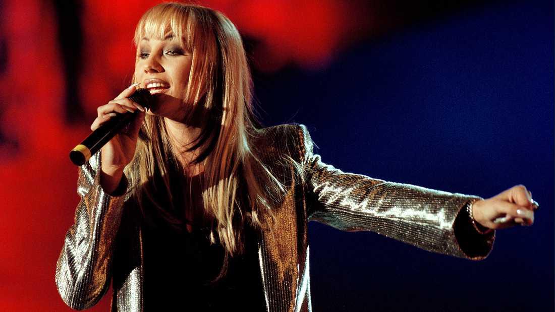 Charlotte Perrelli i Melodifestivalen 1999.