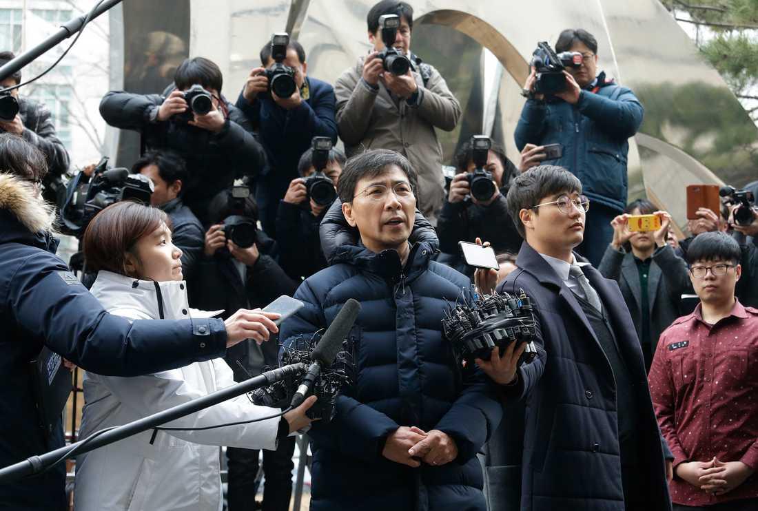 Ahn Hee-jung var tidigare guvernör i södra Chungcheong-provinsen i Sydkorea. Arkivbild.